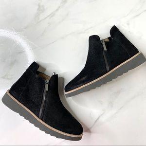 Corso Como Black Leather Zip Ankle Booties 8